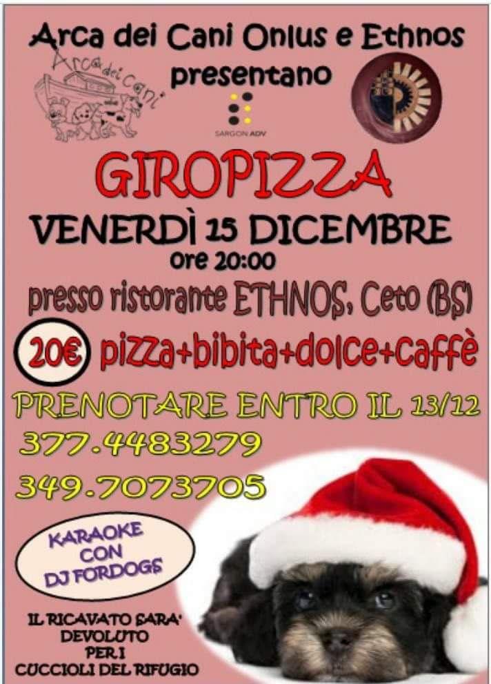 Arca dei Cani - GiroPizza di Natale